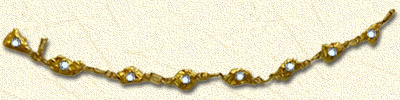 8 matched nuggets bracelet with diamonds