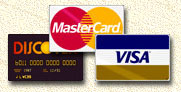 we accept VISA MasterCard Dicscover