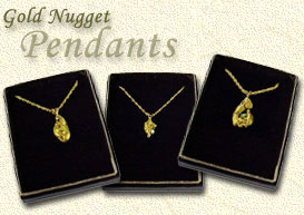 Gold Nugget Pendants