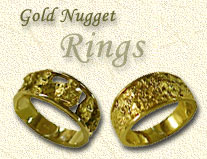 Gold Nugget Rings