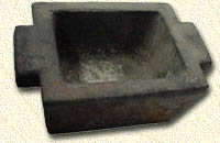 Ingot Mold, used when smelting the fine gold during clean-up